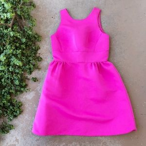 Kate Spade Hot Pink Satin A-Line Fit & Flare Dress